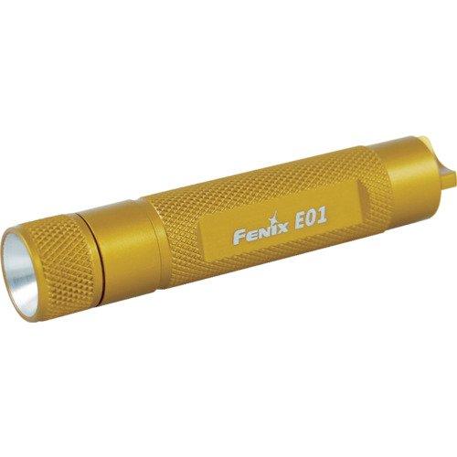 FENIX E01Taschenlampe LED Schlüsselanhänger Unisex Erwachsene, Orange