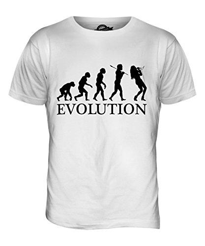 CandyMix Gesang Sänger Evolution Des Menschen Herren T Shirt Weiß