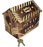#6: SRE_handicraft Wooden Money Bank Big Piggy Coin Box Gifts for birthday / wooden coin box