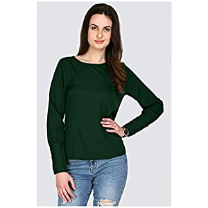 AELO Women's Crepe Full Sleeve Top