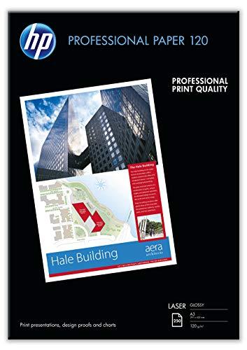 HP CG969A Professional Laser-Papier glänzend (beidseitig beschichtet) 120g/m2 A3 250 Blatt, weiß -