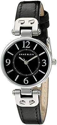 Anne Klein Womens Quartz Watch, Analog Display and Leather Strap