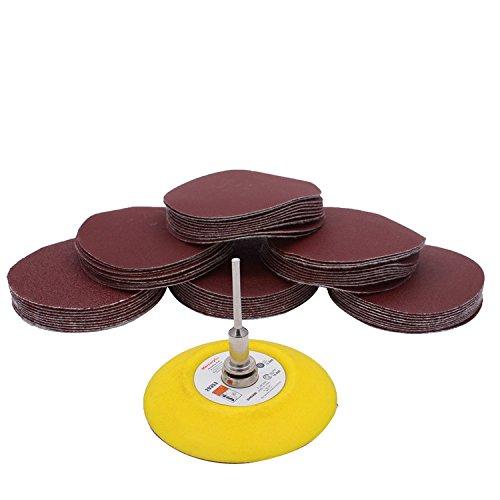 Schleifwerkzeuge 61 teil / satz 74-80mm Sander Disc Sanding Disk 80-600 Multi Grit Sand Papier mit 3 zoll 6mm Polieren Pad Platte für Polnisch Zubehör