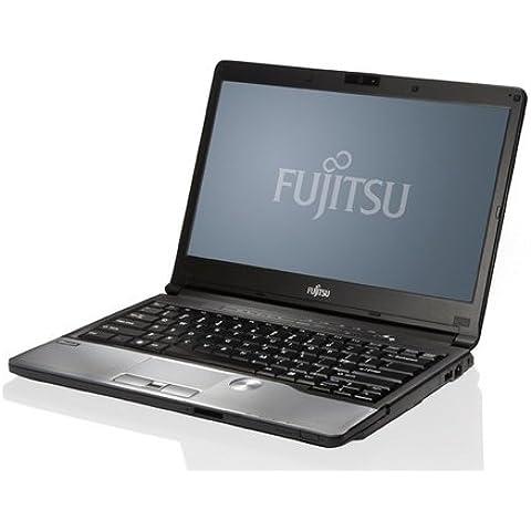 Fujitsu Lifebook S76233,8cm (13,3zoll) Business Notebook (Intel Core i7–3520M 2,9/3,6gHz, 16GB, DVD-RW, 256GB SSD, WLAN, Bluetooth, Win 7Pro 64bit preinstallato) Nero Argento, Port Rep