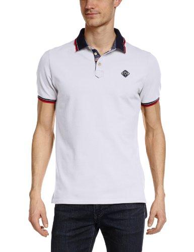 Schott NYC Herren Poloshirt PSHARBOURS Blanc (White)