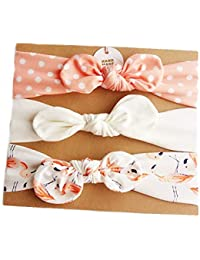 3 Pcs/Set Bowknot Baby Headbands Turban Knotted Girl's Hairbands for Newborn Toddler and Children