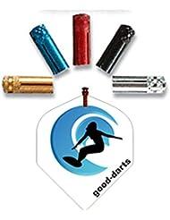 Dart Flyschutz in Alu natur, 5 Sätze (insg. 15 Stück) + 1 Satz good-darts Flights