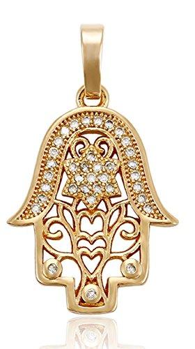 Hand der Fatima Hamsa Kette Gold 18K echt vergoldet Luxus Schmuck Callissi Weihnachten Valentinstag Weltfrauentag Frau Freundin Geschenk Partnerin Jahrestag Damen (60)
