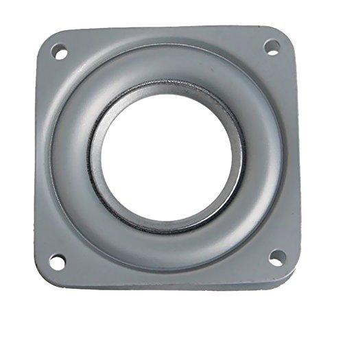 Gazechimp Drehbeschlag 360° Drehteller kugelgelagert mit Laufrollen | Stahl verzinkt | Druckkugellager Tragkraft 50 kg - 72x 72x 9mm