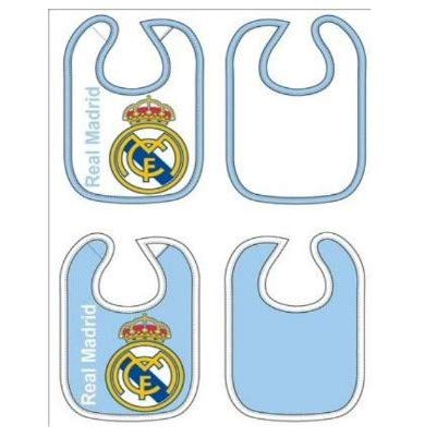 2 Baberos REAL MADRID Celeste y Blanco
