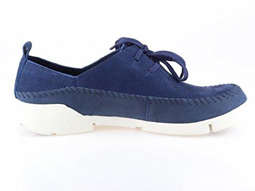 Clarks  Tri Angel, Chaussures de ville à lacets pour femme Bleu Marine