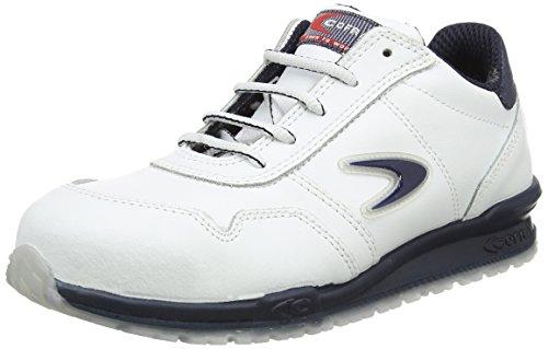 Cofra Sicherheitsschuhe Nuvolari Running S3 SRC sportliche Halbschuhe, weißes Leder, Größe 42, 40-78500004-42 (Aluminium-kappe)