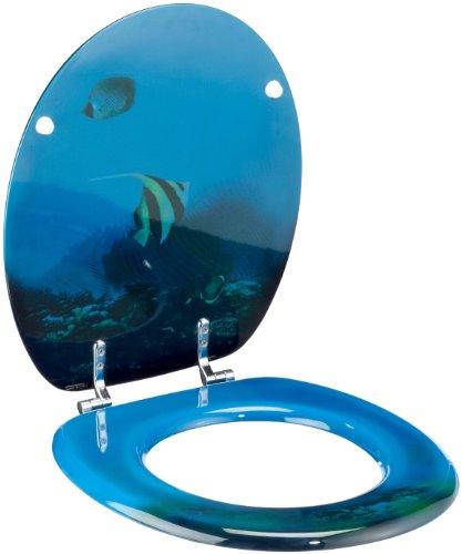 Schläfer 4639111 WC Sitz Unter Wasser/MDF lackiert/Metallscharniere / 3,2 kg