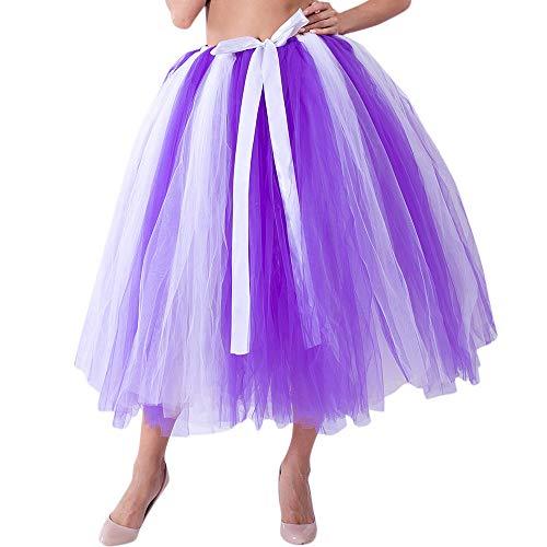 (Aiserkly Damen Tutu Unterkleid Abschlussball Abend Gelegenheit Zubehör Mesh Tulle Tutu Rock Brautjungfer Prinzessin Rock Bubble Umstandsrock)