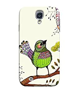 PrintVisa Designer Back Case Cover for Samsung Galaxy S4 I9500 :: Samsung I9500 Galaxy S4 :: Samsung I9505 Galaxy S4 :: Samsung Galaxy S4 Value Edition I9515 I9505G (Cute Bird Design In Colourful Design)