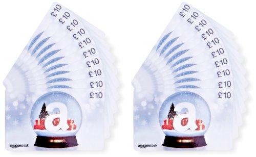 Amazon.co.uk £10 Gift Cards - 20-Pack (Christmas Globe)