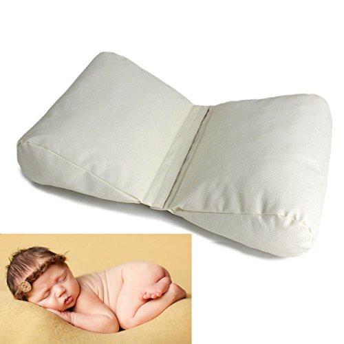 Weiß Kunstleder 5 Stück (Homedecoam Baby Fotografie Requisiten Neugeborene Fotografie Schmetterling posiert Kissen)