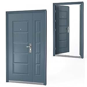 haust r t r sicherheitst r wohnungst r eingangst r 120 x 205 cm anthrazit din rechts amazon. Black Bedroom Furniture Sets. Home Design Ideas