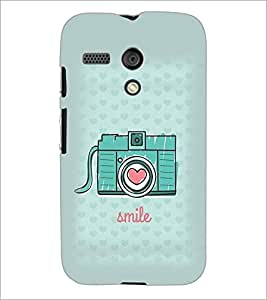 PrintDhaba Camera D-1970 Back Case Cover for MOTOROLA MOTO G (Multi-Coloured)