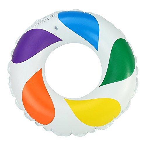 Inflatable Swim Tube Raft Mehrfarben-aufblasbarer PVC-Schwimmring Rettungsring-Sich hin- und herbewegender Reihen-Sitz für Erwachsene Kinderkindermädchen-Jungen -