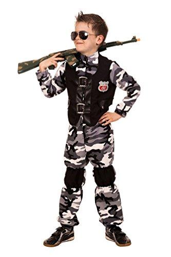 Kostüm Soldat Kämpfer Junge Karneval Militär Kinderkostüm 164 (Militär Themen Kostüme)