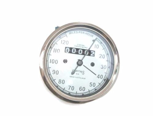 Enfield County réplica blanco cara Smith Speedo 120 MPH Royal Enfield