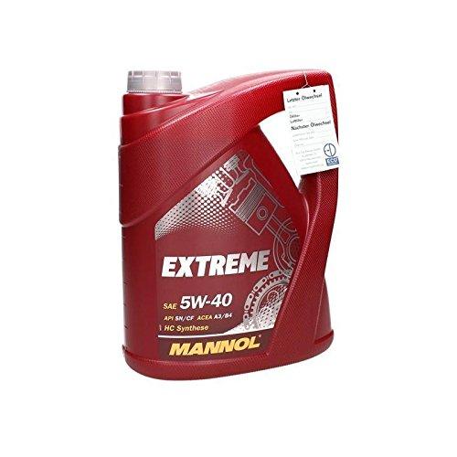5 L MANNOL Extreme Motoröl 5W40