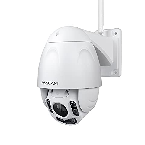 Foscam FI9928P 1080P HD PTZ Wireless IP Camera with 60m Starvis Night Vision, Push Notifications, WDR, Waterproof Outdoor for Driveway/Garden - White