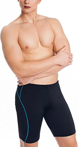 AQUA-SPEED® Lange Badehose | Herren | Schwimmhose | Fest sitzend | Jammer | UV-Schutz | Chlorresistent | Formbeständig | Wirkungsvoll gegen Muskelermüdung 10. BLAKE
