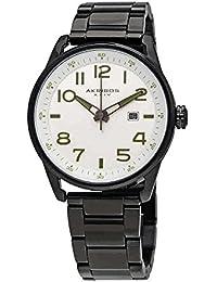 Akribos XXIV Men's Quartz Stainless Steel Casual Watch, Color Black (Model: AK956SS)
