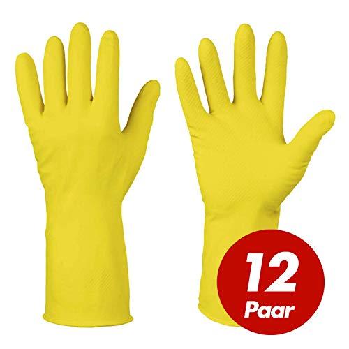 Sicherheit & Gebäudeinstandhaltung Business & Industrie 10 Neu Top 100% Hochwertige Materialien Arbeitshandschuhe 1 Paar Handschuhe Winter Latex Gelb Und Schwarz Gr