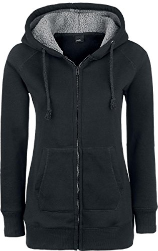 Forplay Teddy Hoodie Felpa jogging donna nero M