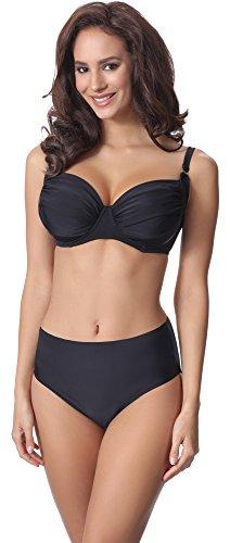 Merry Style Damen Bikini Set P61472W (Schwarz, Cup 85 D/Unterteil 42)