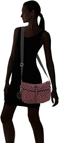 Kipling - Izellah, Borse a tracolla Donna Multicolore (Pink Chevron)