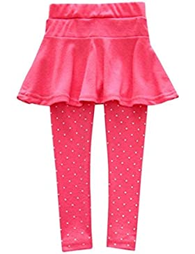 Amlaiworld Leggings Caldi Pantaloni Sportivi Per Bambina Pantaloni con gonna