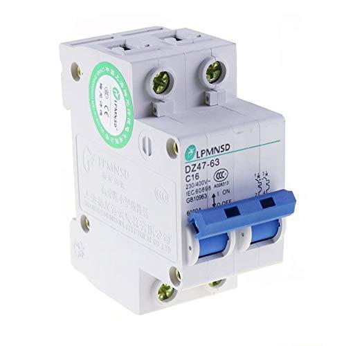 Ac 2P 6A 10A 16A 20A 25A 32A 40A 50A 63A Leistungsschalter 230~400V Mcb 2-Polig Pv Solar Power Pv Ac Luftschalter Pv-solar-power
