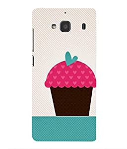 For Xiaomi Redmi 2 Prime -Livingfill- Cupcake Illustartion Printed Designer Slim Light Weight Cover Case For Xiaomi Redmi 2 Prime (A Beautiful One of the Best Design with a Classic Theme & A Stylish, Trendy and Premium Appeal/Quality) (Red & Green & Black & Yellow & Other)