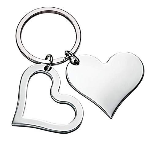 Ten portachiavi cuore doppio cod.el5572 cm 7x4x0,5h by varotto & co.