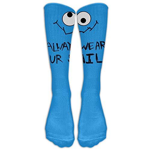 kie Monster Always Smile Tube Socks Knee High Sports ()