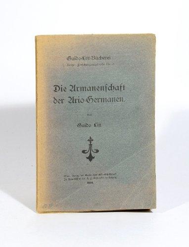 Die Armanenschaft der Ario-Germanen.