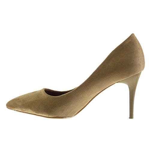 Angkorly Scarpe da Moda scarpe decollete stiletto decollete donna Tacco Stiletto tacco alto 8.5 CM Khaki
