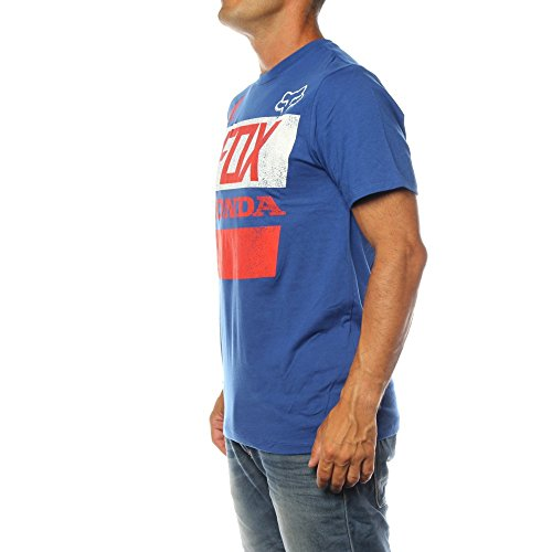 Fox-T-shirt-Honda-Distressed-Basic-Blue-Taglia-XL