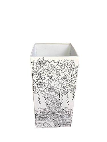 Mobili rebecca® porta ombrelli portaombrello metallo bianco nero stile moderno entrata decorazione casa (cod. re6016)