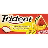 Trident - Chicle con sabor a melón-sandía - Grageado sin azúcar - 14.5 g