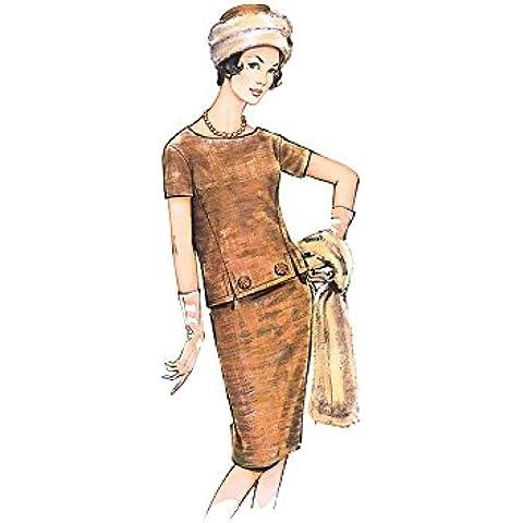 Burda Mujer Patrón 7175Vintage de parte superior, Rock, gorro y bufanda), talla: 36–46