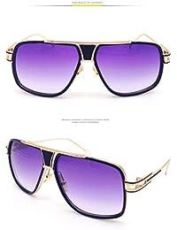 Kennifer Gafas de sol de las Mujeres de los Hombres Moda Retro Unisex Metal Pareja rana Gafas Mirror Compras Playa Conducción Deportes Gafas UV400 Protección