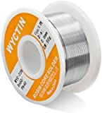 WYCTIN 60-40 Tin Lead Rosin Core Solder Wire for Electrical Solderding and DIY 0.0236 inches(0.6mm) 0.11lbs(50g)