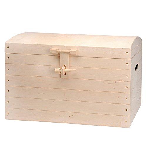 Holzkiste mit Deckel für Aufbewahrung - Kiefer naturbelassen unbehandelt - 73,5 x 41,5 x 53cm