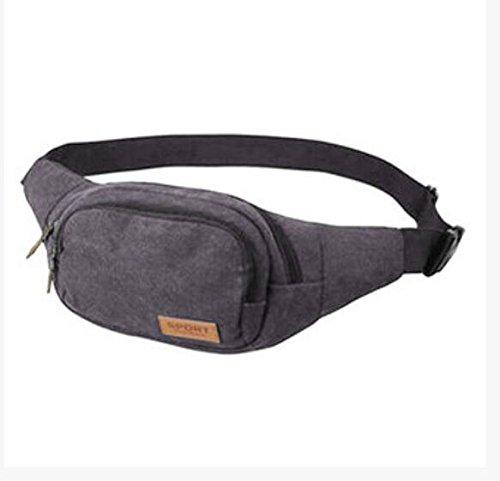 ZYT Männer-kleine flache Leinwand-outdoor-Sport laufen Taschen Brust Pack gray