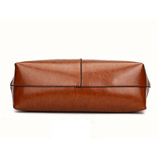 Damen Retro Handtasche Einfache Hochleistungs-Umhängetasche Black